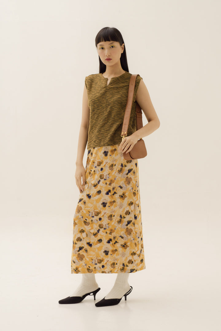 Ladang Sleeveless Top in Dijon Yellow