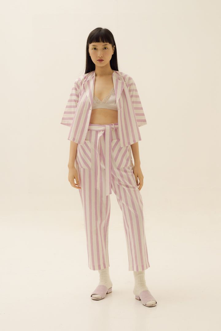 Ringan Jacket in Pink Candy Stripes