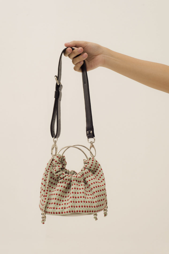 Mini Sinaran Bag in Red Dot Green