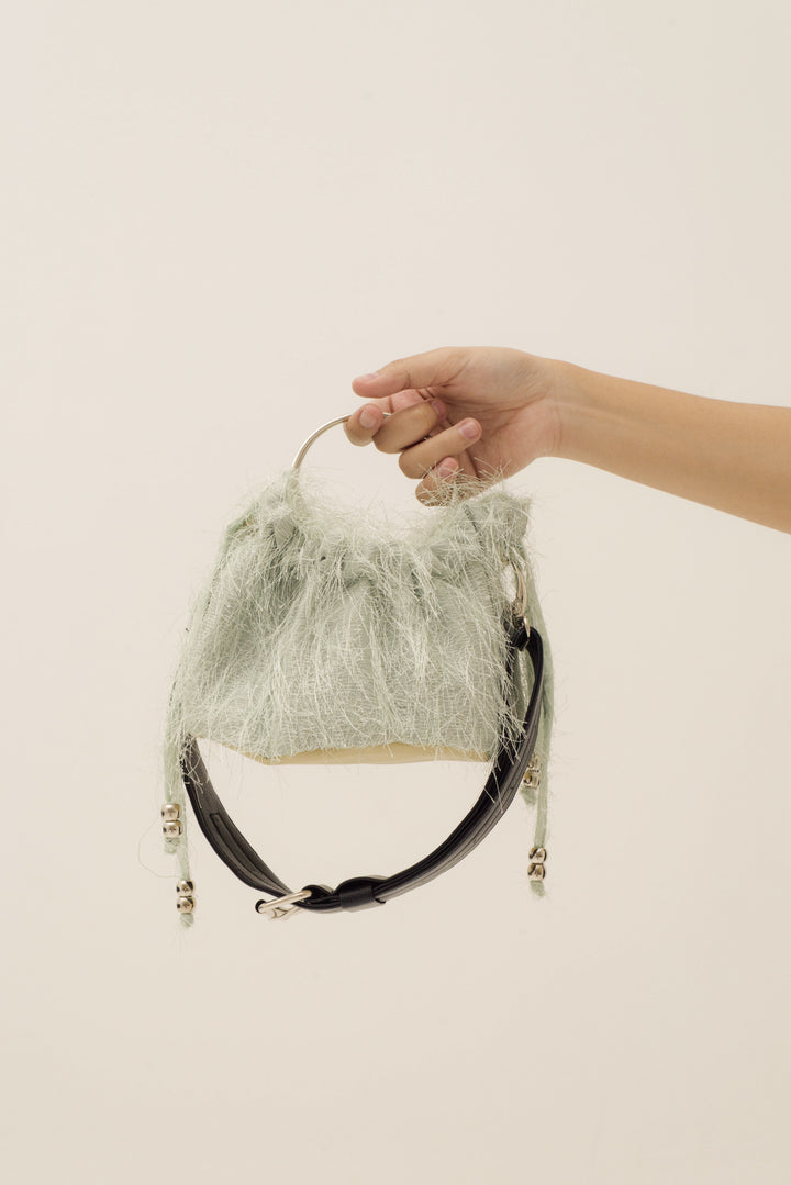 Mini Sinaran Bag in Fuzzy Pale Mint