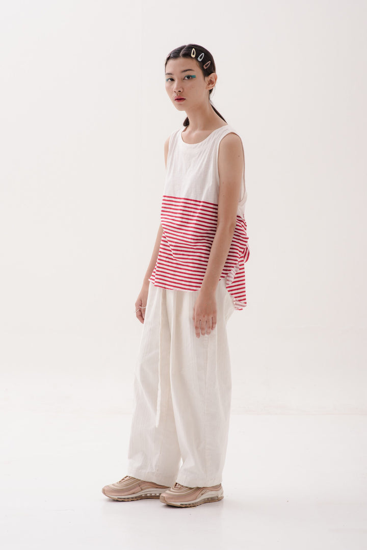 Sesuai Tank in Red & White Stripes