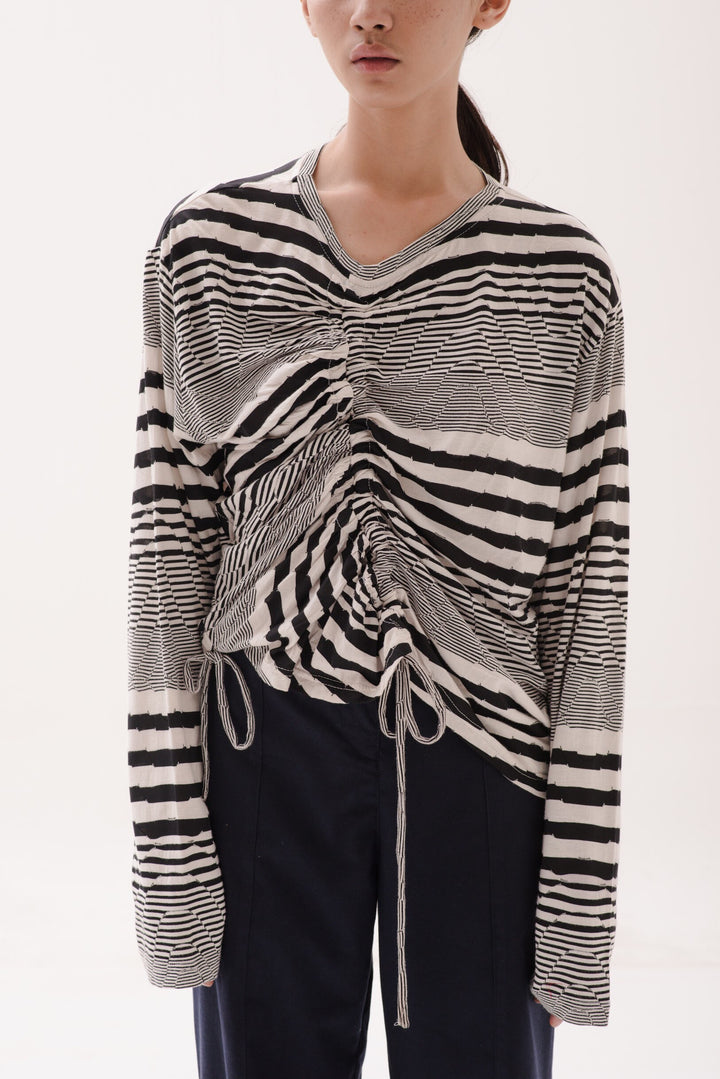 Lajur & Tarik Long Sleeve in Optical Illusion Black