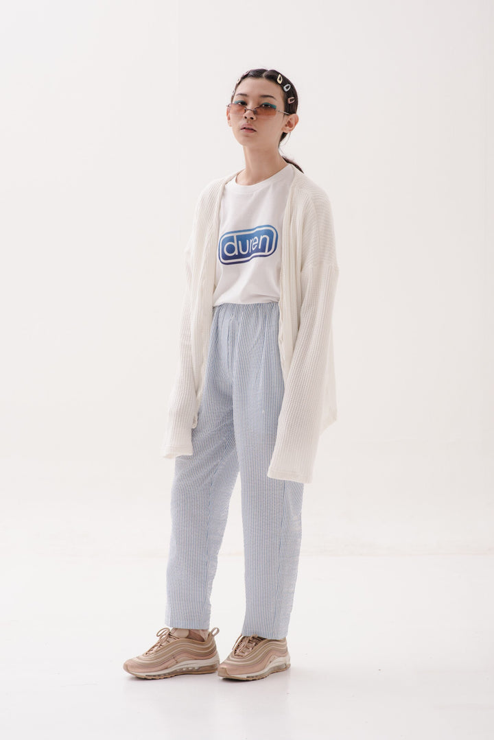 Bobo Pull Up Pants in Blue & White Stripes