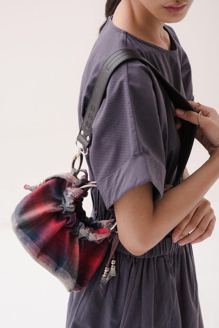 Sinaran Mini Bag in Tartan Red/Blue