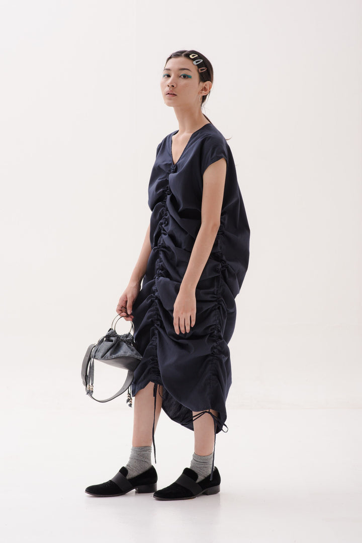 Kaftan Tarik Dress in Navy Blue