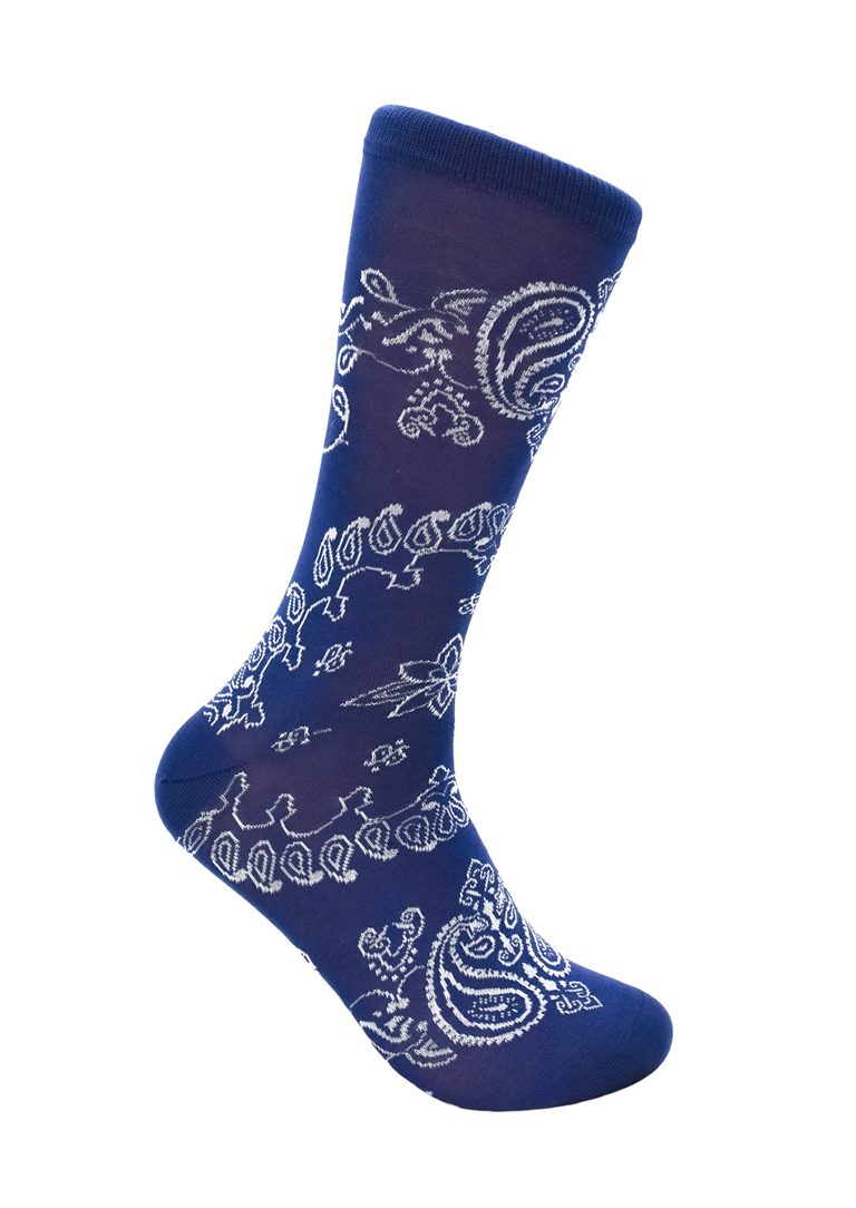 CheckerBox Socks - Blue Bandana
