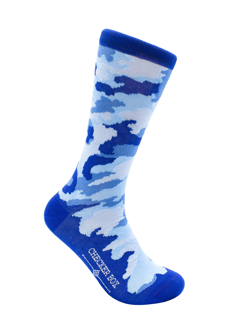 CheckerBox Socks - Blue Camo