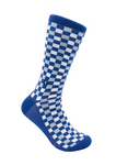 CheckerBox Socks - Blue Cashmere