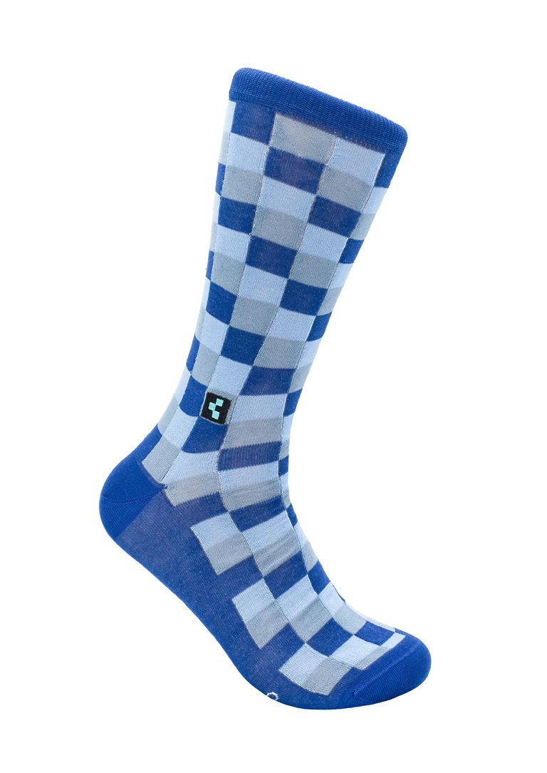 CheckerBox Socks - Canal