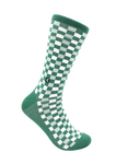 CheckerBox Socks - Green Cashmere