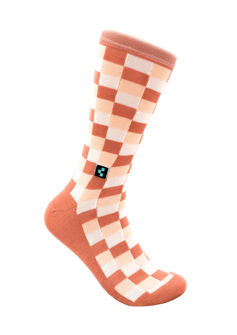 CheckerBox Socks - Peach Street