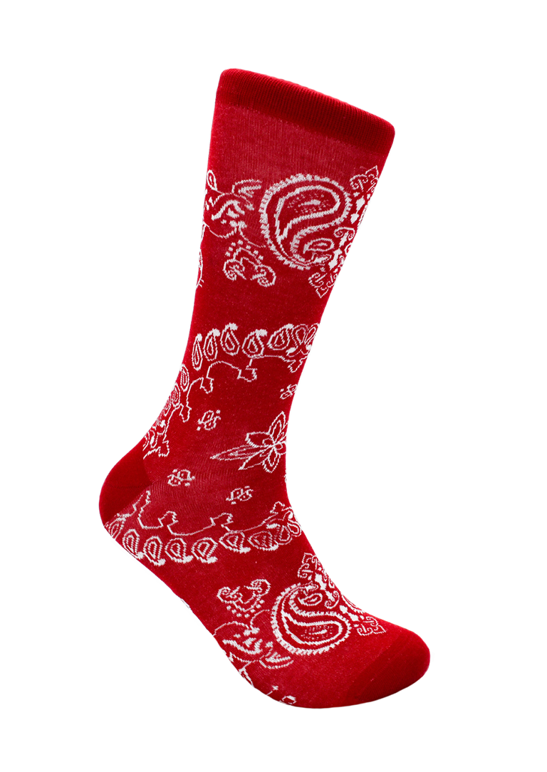 CheckerBox Socks - Red Bandana