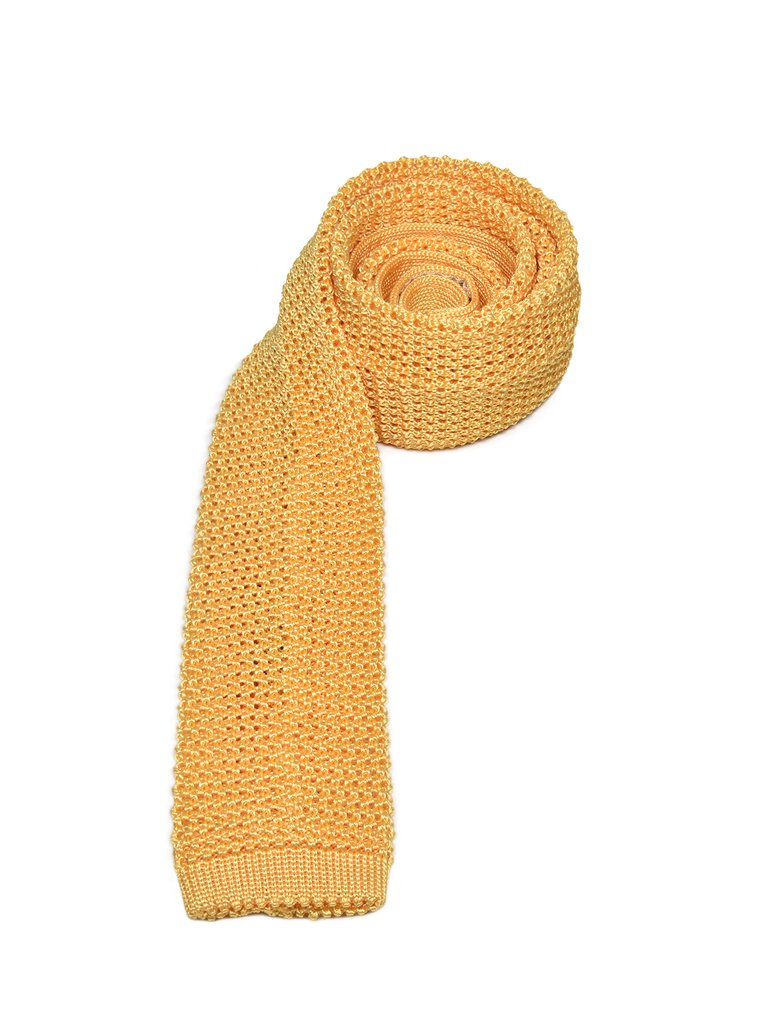 CheckerBox Silk Knit Ties | Yellow