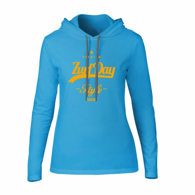 Girls Fashion Hoodie, türkies-0