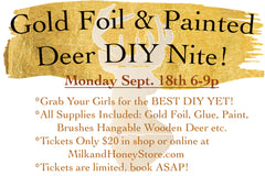 Gold Foil Deer DIY Monday Sept 18th 2017