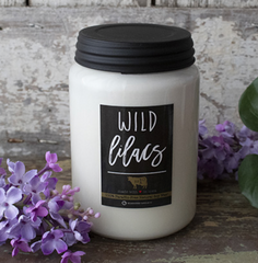 Wild Lilacs Farmhouse Jar