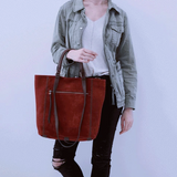 HOBO Ballad Suede Leather Tote