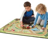 Melissa & Doug - Round the Rails Train Rug