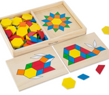 Melissa & Doug - Pattern Blocks and Boards Classic Toy