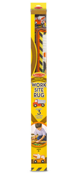 Melissa & Doug - Round the Construction Zone Work Site Rug