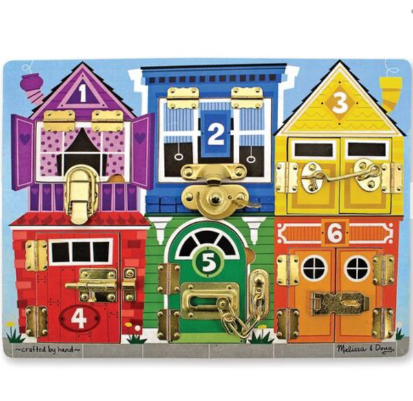 Melissa & Doug - Wooden Latches Board