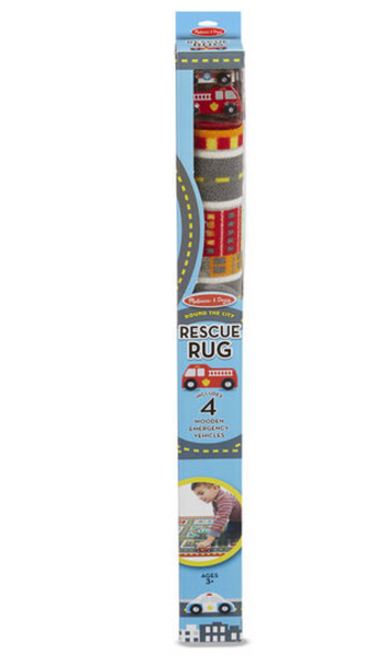 Melissa & Doug - Round The City Rescue Rug & Vehicle Set