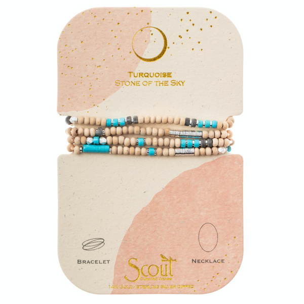 Wood, Stone & Metal Wrap - Turquoise - Stone of The Sky