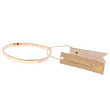 Miyuki Bracelet - Good as Gold - Blush/Gold