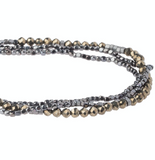 Delicate Stone Bracelet/Necklace - Pyrite - Stone of Positive Energy