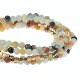 Stone Wrap Bracelet/Necklace - Amazonite - Stone of Courage