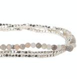 Delicate Stone Bracelet/Necklace - Moonstone - Stone of Balance