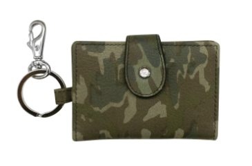 Leather Camo ID Holder