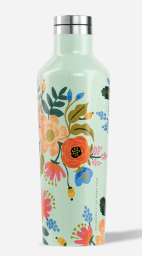 Corkcicle Mint Lively Floral 16oz Rifle Paper Canteen