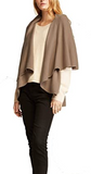 Taupe Shawl Vest