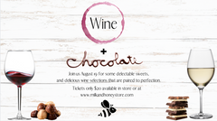 Wine and Chocolate Pairing - Wednesday, August 19th 2020 - 6-9pm