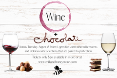 Wine and Chocolate Pairing - TUESDAY, August 18th, 2020 - 6-9pm