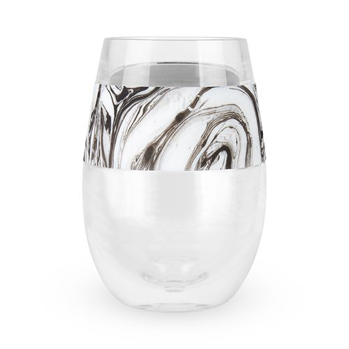 Wine Freeze Cooling Cup Black Swirl