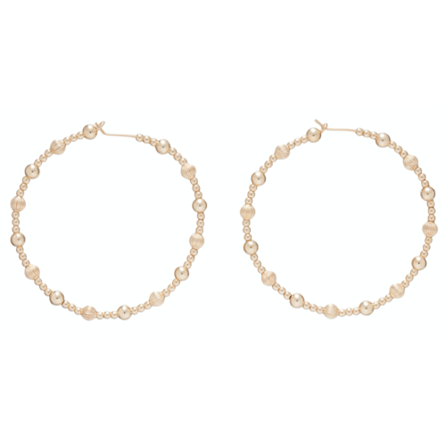 "Beaded 1.75"" Hoop - Dignity Gold Sincerity Pattern"