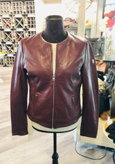 Women's Raisin Leather Jacket