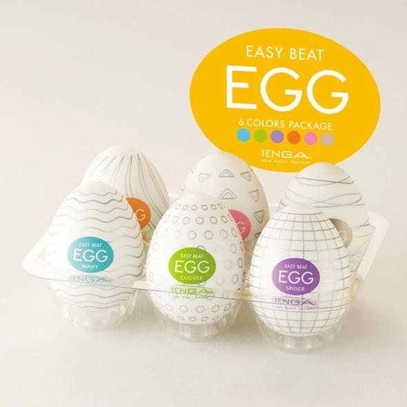 TENGA EGG - Easy Beat Six Pack  | Male Sex Toy | www.tenga.co.uk