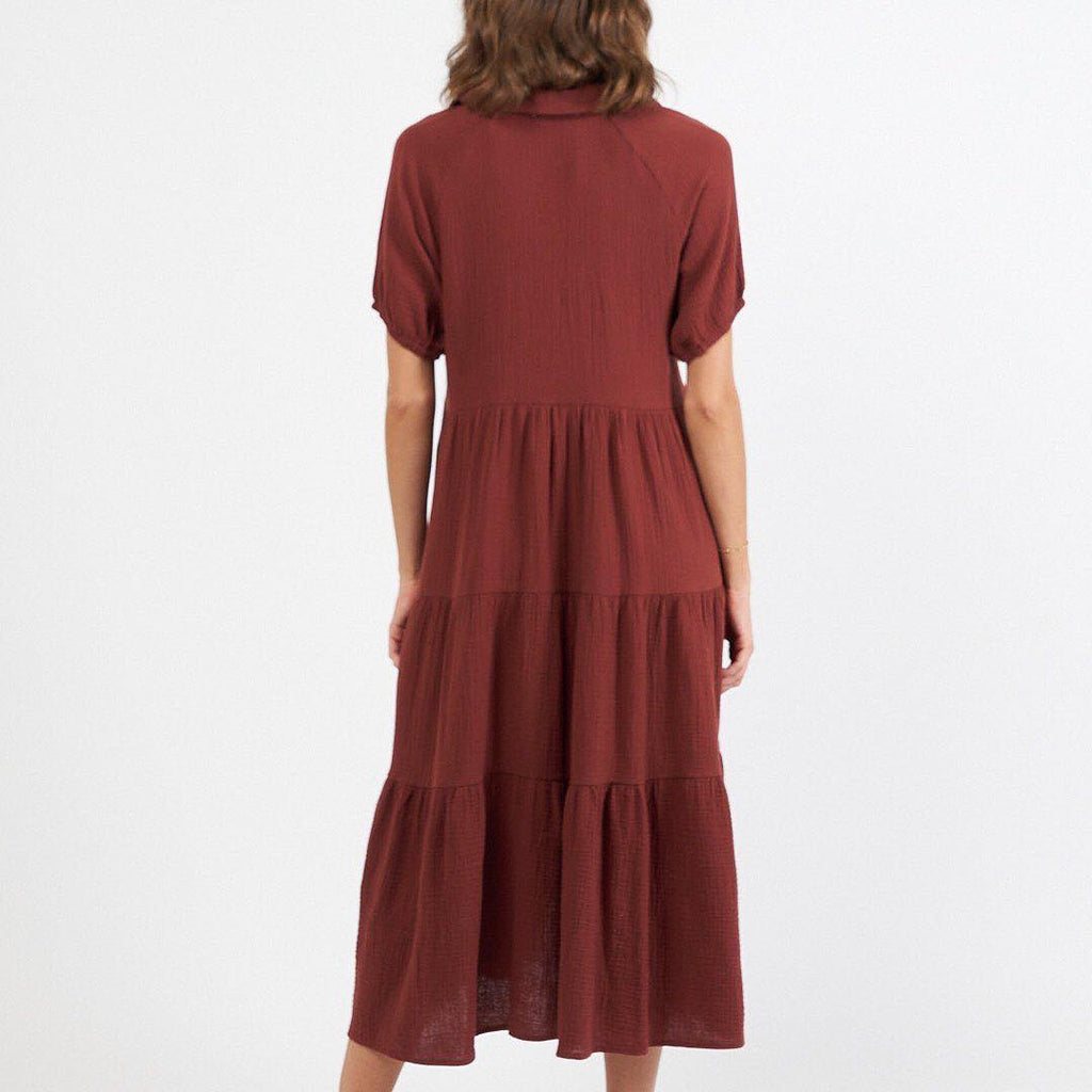 Shirtmaker Maxi Dress - Chocolate