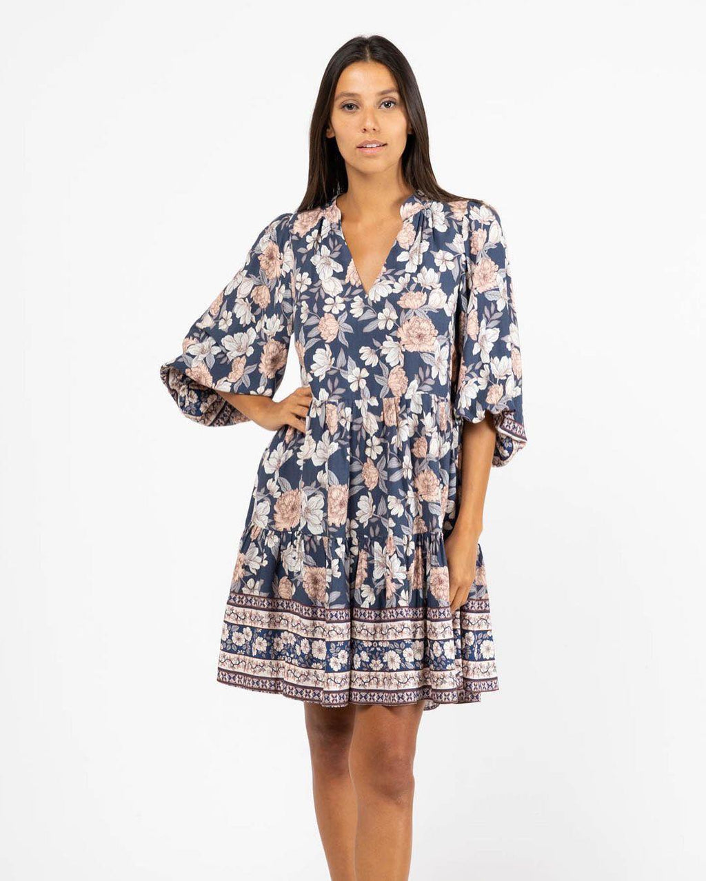 Angus Tunic Dress - Navy