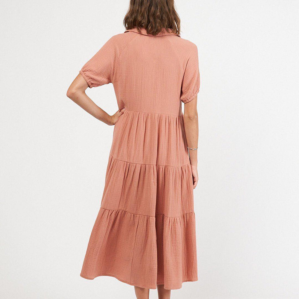 Shirtmaker Maxi Dress - Dusty Rose