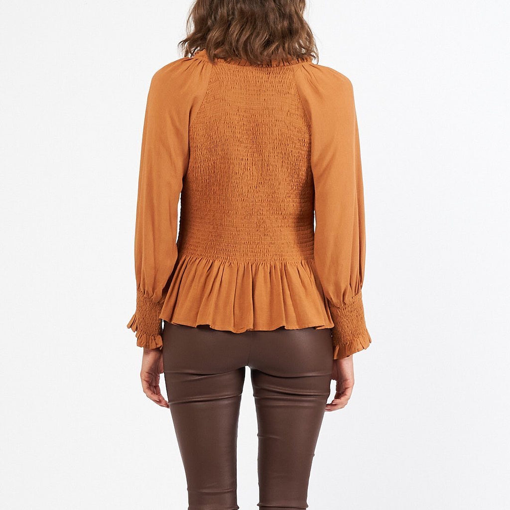 Shirred Top - Rust