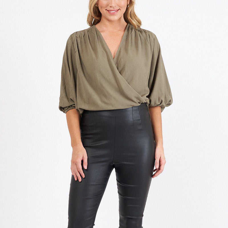 Drape top Khaki White Closet manski and schi