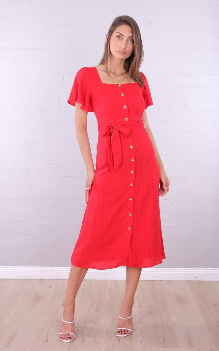 Valentina Dress - Red