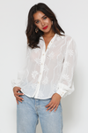 Elise Blouse white runaway the label manski and schi