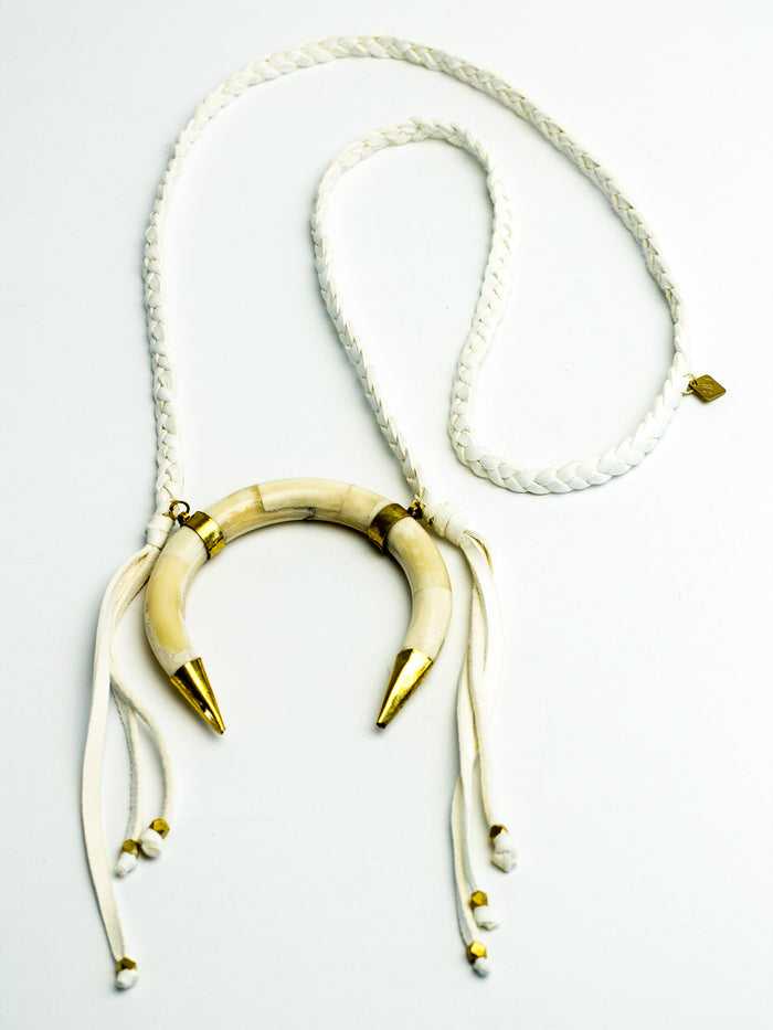 """Crescent Glow"" Necklace"