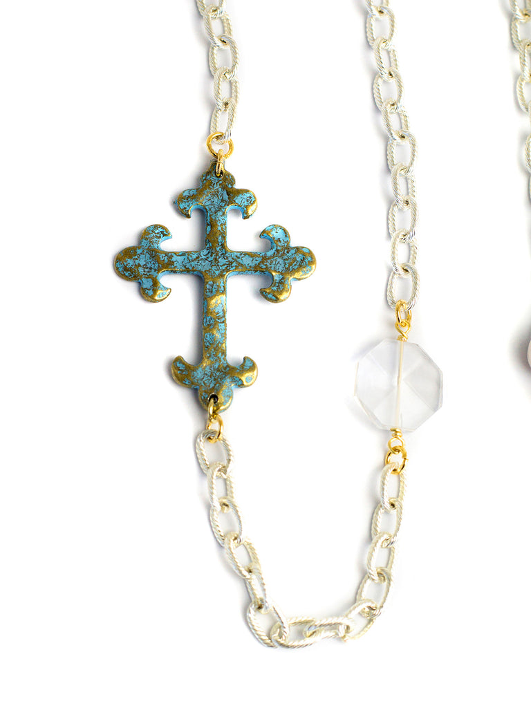 2016 Allison - Silver - Antique Gold Cross