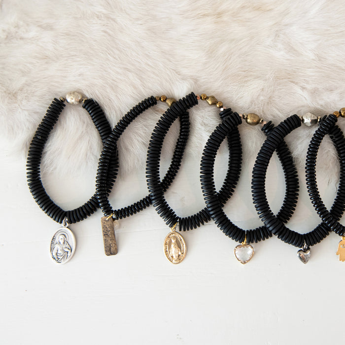 """Mini"" Blessings Bracelets (BLACK)"